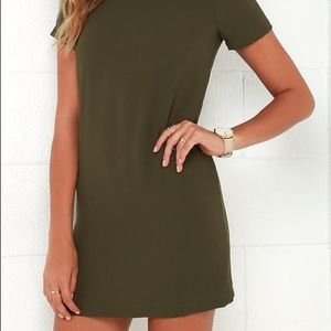 NWOT Lulus Olive Green Shift Dress